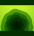 abstract green waves pattern vector image vector image
