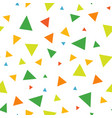 abstract seamless pattern of triangles vector image vector image