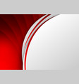 abstract template red background curve line on vector image vector image