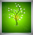 Abstract tree on green background vector | Price: 1 Credit (USD $1)