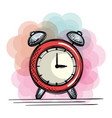 alarm clock time drawing vector image