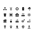 alternative energy black icons renewable eco vector image vector image