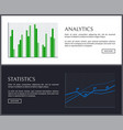 analytics collection pages vector image vector image