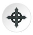 Arrows target icon circle