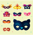 authentic handmade venetian painted carnival face vector image vector image