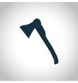 Ax black icon vector image