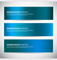 banners blue shiny glossy gradient banner vector image