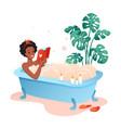 bath time flat cartoon happy vector image vector image