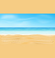beautiful sea view tropical beach vector image vector image