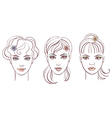 beautiful women portraits vector image