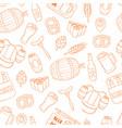 beer cartoon doodle seamless background vector image vector image