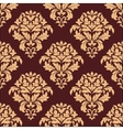 Beige and maroon seamless damask pattern vector image vector image