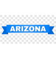 blue stripe with arizona text vector image