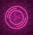 bulb glowing neon ring lamp sign vector image vector image