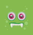 cartoon monster in flat style happy halloween vector image