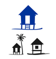 collection of small nipa hut on a white background vector image vector image