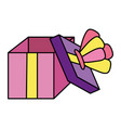 color open present box with crown style vector image vector image