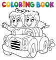 coloring book car theme 1 vector image vector image