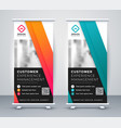 company rollup presentation banner in two colors vector image vector image