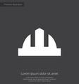 construction helmet premium icon white on dark bac vector image vector image