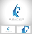 Corporate Blue Logo vector image vector image