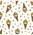 creative seamless pattern with ice cream in wafer vector image