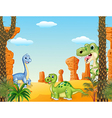 Cute dinosaur collection set vector image vector image