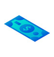 dollar money icon isometric style vector image