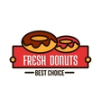 Donuts linear symbol for cafe and bakery design vector image vector image
