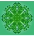 filigree pattern on green vector image vector image