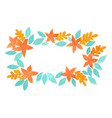 flower and fern frame watercolor for autumn vector image vector image