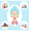 Girl at spa procedures vector image vector image