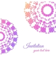 Greeting Card With Pink Ornament vector image