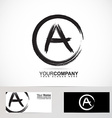 Grunge letter A logo black and white vector image vector image