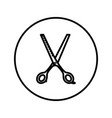 hairdressing scissors universal icon editable vector image vector image