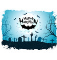 halloween background with bat vector image vector image
