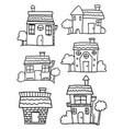 hand draw of house collection vector image vector image