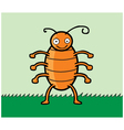 Happy cockroach cartoon vector image