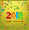 happy new year 2018 calendar template colorful vector image vector image