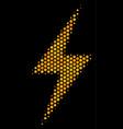 hexagon halftone electric bolt icon vector image vector image