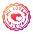 I love You logo badge vector image