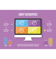 Infographic elements background vector image vector image