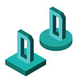 isometric alphabet 3d letters vector image