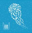 jellyfish plastic waste ocean environment problem vector image vector image