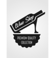 Logotype concept with wine bottle and titling Wine vector image vector image
