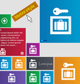 Luggage Storage icon sign buttons Modern interface vector image