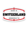 made in switzerland label vector image vector image