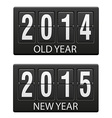 mechanical scoreboard old and the new year vector image vector image