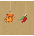 mexican decorations vector image vector image