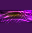 neon square shapes lines on glowing light vector image